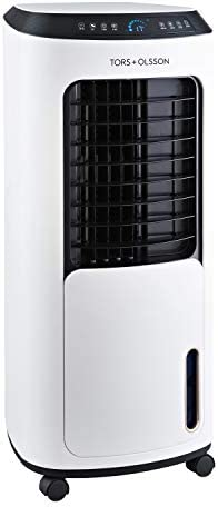 Tors+Olsson 42249 T200 Evaporative Cooler with Remote Control and Touch Panel, 4 Speed, 3 Wind Modes with Horiziontal + Vertical Air Flow for Home, Office or Commercial Use, White