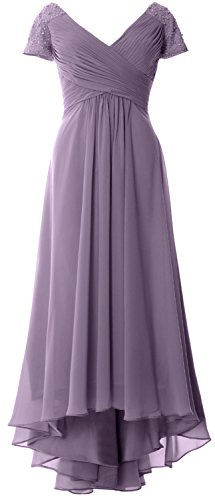 V Wisteria Low MACloth Neck Gown Evening Cap Sleeves High Dress Formal Mother of Bride qaqwOExSXy