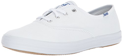 Keds Women's Champion Original Canvas Lace-Up Sneaker, White, 11 S US
