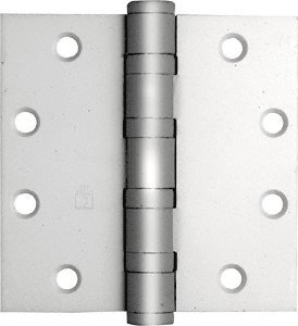 CRL Satin Chrome Heavy Weight Ball Bearing Template Butt (Ball Bearing Template Butt Hinge)