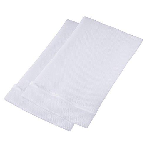 Xavax Wäschenetz für empfindliche Materialien (z. B. Dessous, Gardinen, Feinstrumpfhosen, Kaschmir, Merino), gepolstert, feinmaschig, 45 x 25 cm, für 1 kg Wäsche, 2 Stück