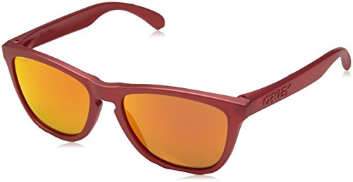 (Oakley Men's Frogskins Non-Polarized Iridium Square Sunglasses, IR RED, 54.7 mm)
