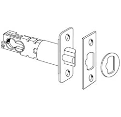 "Schlage 16-211 2 3/8"" or 2 3/4"" Replacement Deadlatch with Triple Faceplate Opti, Aged Bronze"