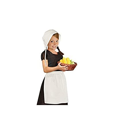 amscan Thanskgiving White Pilgrim Girl Set | Party Costume: Toys & Games