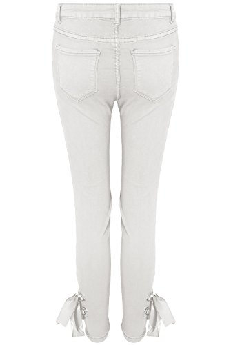 42 Ankle 34 Blanc Up amp;ayat Momo Jeans Stretch Tie Lace Eur Fashions Taille Ladies CxZWAwq7