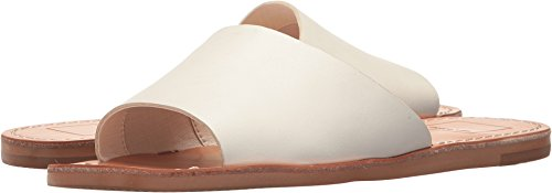 Dolce Vita Womens Cato Slide Sandal  Off White Leather  8 5 M Us