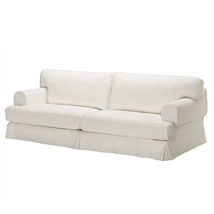 Replace Cover for IKEA Hovas Three Seat Sofa, 100% Cotton Sofa Cover (White)