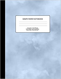 amazon graph paper notebook blank math composition book quad