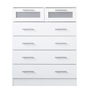 Melbourne Bedroom Furniture 6 Drawer Chest Of Drawers Maple Or White White
