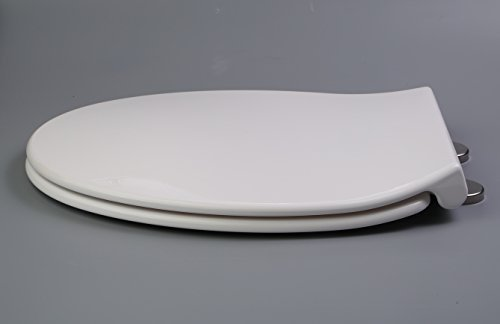 TOPSEAT DuroNova Elongated Toilet Seat w/ Slow Close Chromed