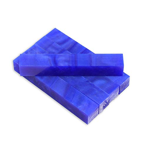 Legacy Woodturning, Acrylic Pen Blank, Blue with pearl, 5
