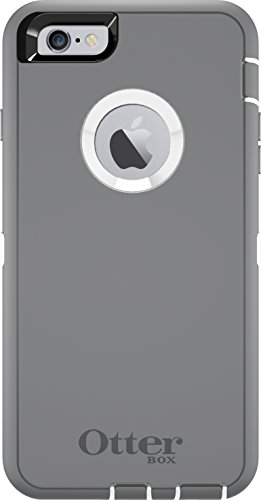 OtterBox DEFENDER iPhone 6 Plus/6s Plus Case - Retail Packaging - GLACIER (WHITE/GUNMETAL GREY) (Iphone 6 Otterbox Gold Defender)