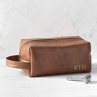 Mens Vegan Leather Dopp Kit
