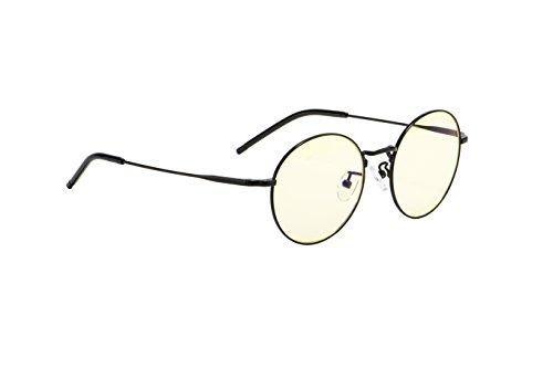 - GUNNAR Gaming and Computer Eyewear/Ellipse, Amber Tint - Patented Lens, Reduce Digital Eye Strain, Block 65% of Harmful Blue Light