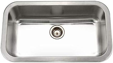 Houzer MGS-3018-1 Medallion Gourmet Series Undermount Stainless Steel Large Single Bowl Kitchen Sink
