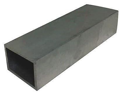 """6063 Aluminum Rectangle Tube 1-1//2/"""" x 4/"""" x 1//8/"""" 12/""""L"""