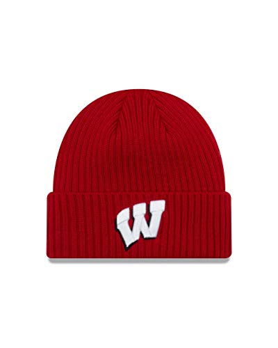 Wisconsin Badgers Adult NCAA Core Classic Knit Beanie - Red, One Size