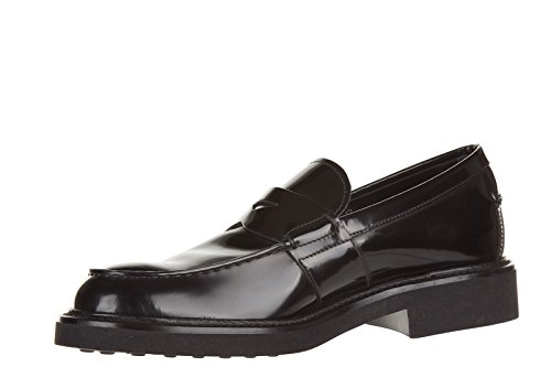 Tod's mocassini uomo in pelle originale fondo light nero