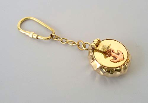 R A Handicrafts Brass Nautical Ashtray Collectible Marine Nautical Key Ring from Brass Blessing