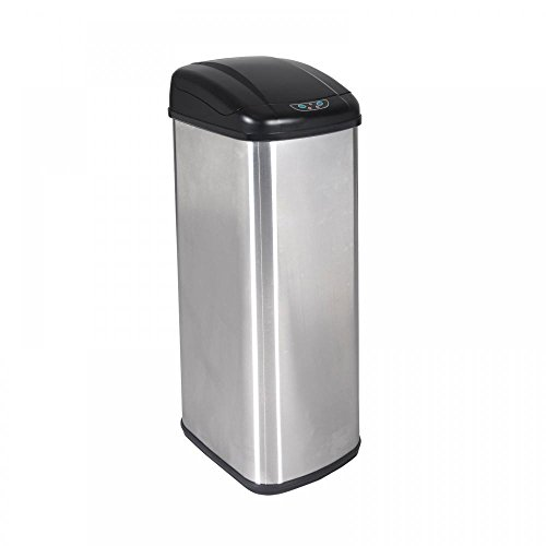 Stainless Steel 13 Gallon Touch Free Automatic Sensor Trash Can That you Can Use It In The Kitchen Bedroom Bathroom Backyard Work Place by One Happy Shop