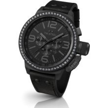 TW Steel Canteen 50mm Chronograph Black Dial Black PVD Mens Watch TW913