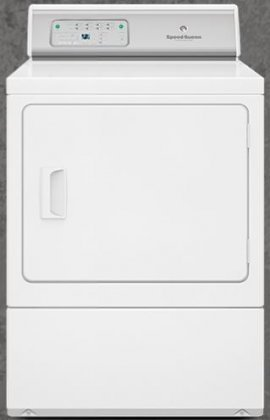 Speed Queen ADEE9RGS 27'' ADA Compliant Button Control Front Load Electric Dryer with 7.0 Cu. Ft. Capacity Reversible Door 7 Preset Cycles Moisture Sensor Eco Dry Favorite Cycles in by Speed Queen