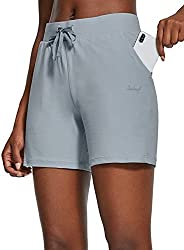 """BALEAF Women's 5"""" Activewear Shorts with Pockets Yoga Casual Workout Running Gym Sports Lounge Bermud"""