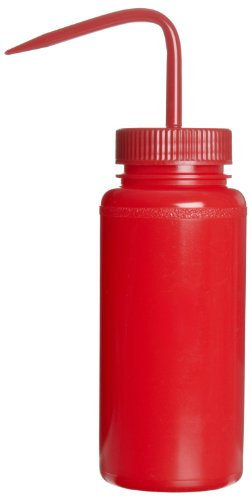 Bel-Art Red 500ml (16oz) Polyethylene Wash Bottles; Polypropylene Cap, 53mm Closure (Pack of 6) (F11651-0016) ()
