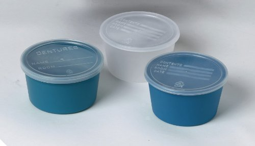 Medline DYND70292 Denture Containers with Lid, Clear, 8 oz (Pack of 250)