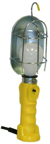 Bayco FL-407PDQ Professional Series Metal Shield Incandescent Utility Light with 16 Gauge Cord and Tool Tap by Bayco