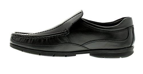 Hombre / Negro Hombre Lambretta Sure ANTIDESLIZAMIENTO Pantuflas Zapatos Formales - Negro - GB Tallas 6-12