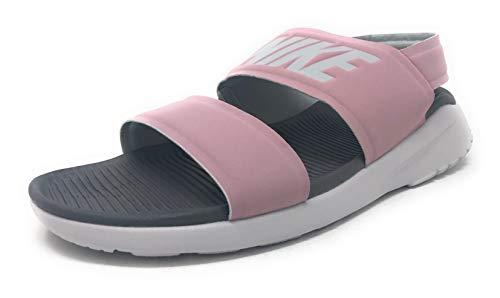 - Nike Women's Tanjun Sandals, Plum Chalk/Vast Grey/Gunsmoke (US 8)