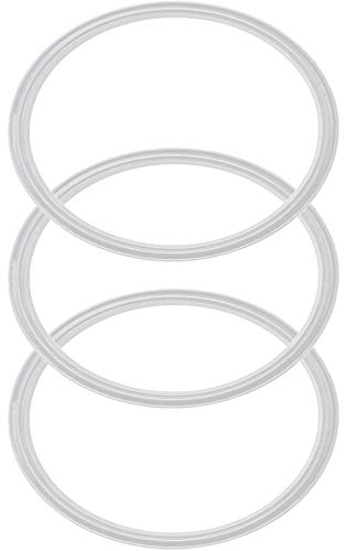 Pack of 3-20/10 oz Replacement Rubber Lid Ring, Gasket Seals, Lid for Insulated Stainless Steel Tumblers, Cups Vacuum Effect, fit for Brands - Yeti, Ozark Trail, Beast, White Model 2019 ()