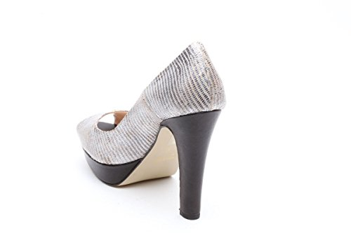 Scarpe italiane decollete spuntati argento