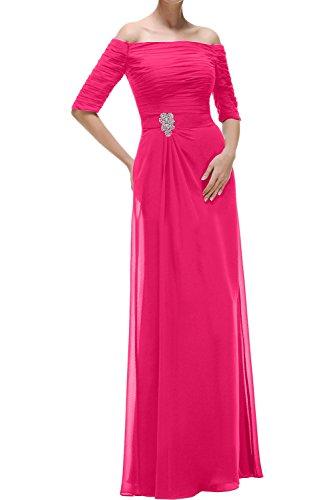 Promkleid Damen Chiffon Ausschnitt Abendkleider Mit Aermeln Wassermelone Ivydressing Festkleider Lang U 6RgwUqU