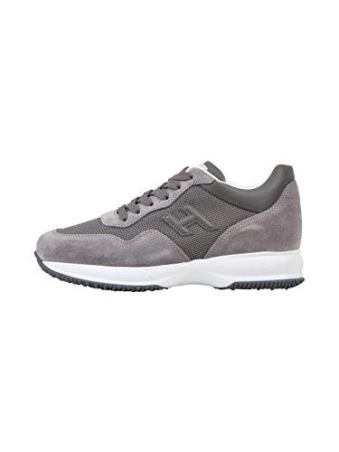 Hogan Herren Hxm00n0u040i9m6z21 Grau Stoff Sneakers