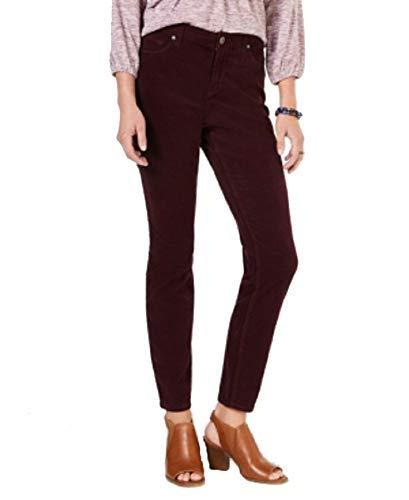 Style & Co. Curvy Corduroy Skinny Jeans (Berry Jam, ()