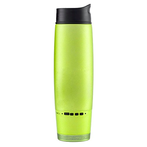 XY Intelligent Water Bottle Bluetooth 2.1 Wireless Portable Audio Speakers with Strong Bass,Waterproof - Stainless Steel Vacuum Cup, Outdoor Sport Bottles for Bicycle, Bike, Cycling, Hiking, Camping Speaker Cup