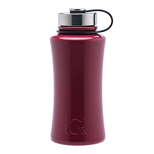 RTIC 485 Double Wall Vacuum Insulated Bottle, 32 oz, Maroon