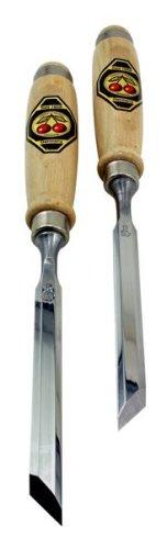Chisels Two Cherries - Two Cherries 500-1912 Pair of 12mm Two Cherries Skew Bevel Wood Chisels