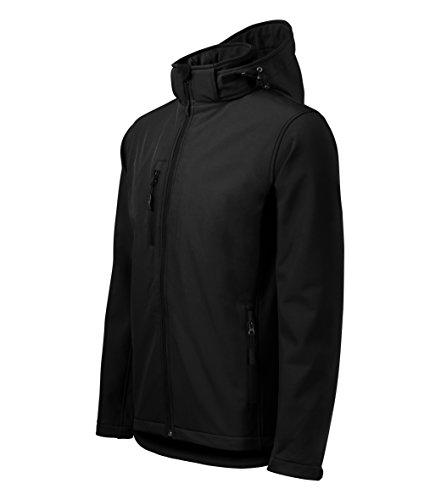 Outdoor Softshelljacke Herren mit Kapuze Winddichte Funktions-Jacke (Schwarz, XL)