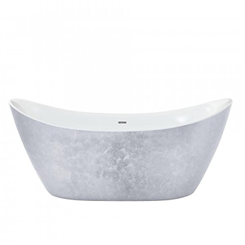 Casa Padrino Art Deco bath detached stainless steel look model He-HYL 1730mm - Freestanding