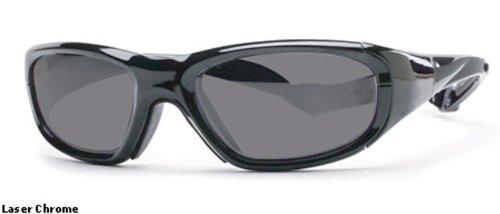 Rec Specs Protective Sports Eyewear- Maxx 20 - Laser Chrome/ Silver Flash by Rec Specs