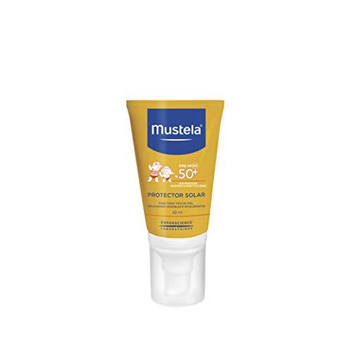 Mustela Crema Protector Solar Facial, Alta Protección para Todo Tipo de Piel, 40 ml
