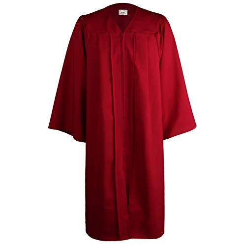 - OSBO GradSeason Unisex Matte Robes for Graduation Gown, Choir Robes, Pulpit Robe and Pastor Maroon