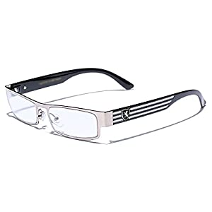 Rectangular Frame Women's Men's Designer Sunglasses Clear Lens RX Optical Eyeglasses