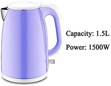 Bouilloire électrique Mise Hors Tension Automatique Grande capacité 1800w Isolation Anti-brûlure intégrée en Acier Inoxydable 1,7l Violet