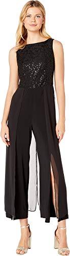 Vent Cropped Pant - London Times Women's Carwash Jumpsuit Black/Black 14