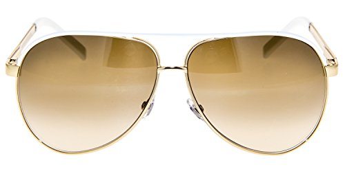 af58ad106c26 GUCCI Aviator GG1827S Gold Metal White Sunglasses Brown Gradient 1827
