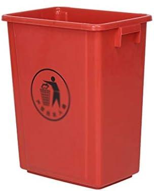 滑らかな表面 カバーごみ箱ホテルファクトリー病院ソートのゴミ箱大容量100Lなしの屋外ゴミ箱、プラスチックの厚み付け リサイクル可能なデザイン (Color : D, Size : 49.5*49.5*65CM)